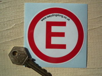 "Fire Extinguisher E Race Car Sticker - Red & White - 3"""
