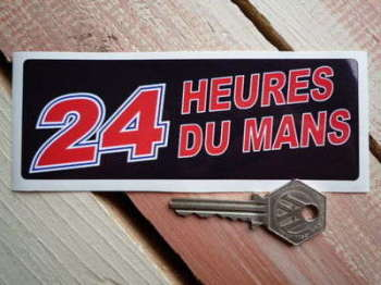 "24 Heures Du Mans LeMans Le Mans Black Oblong Sticker. 5.5""."