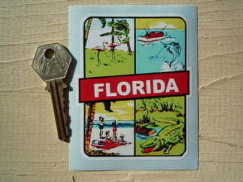 "Florida Sun, Sea, Beach, Nature, Sticker. 3""."