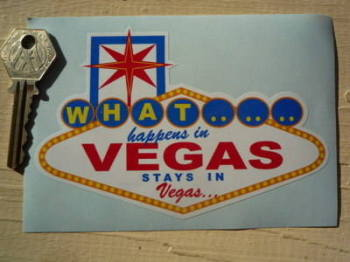 "Las Vegas 'What Happens in Vegas Stays In Vegas' Sticker. 5""."