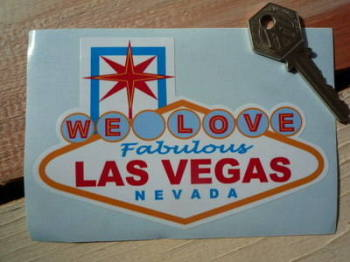 "Las Vegas 'We Love Fabulous Las Vegas Nevada' Sticker. 5""."