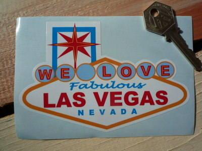 "Las Vegas 'We Love Fabulous Las Vegas Nevada' Sticker. 5""."
