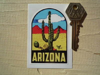 """Arizona Sticker. 3""""."""