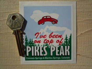 "Colorado Springs Pikes Peak Sticker. 3.25""."