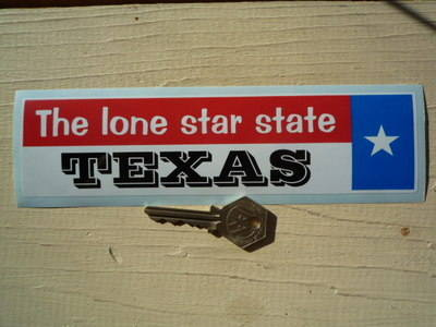 """Texas The Lone Star State Sticker. 8""""."""