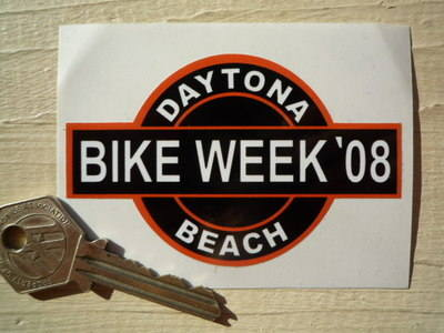 Daytona Beach Bike Week 2008 Sticker. 3.5