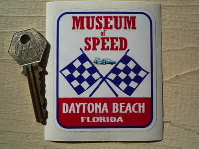 Florida Daytona Beach Museum of Speed Sticker. 2.75