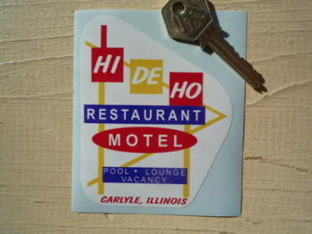 "Illinois Hi De Ho Restaurant & Motel Sticker. 3""."