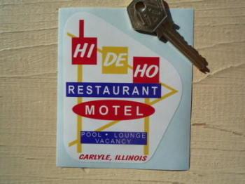"""Illinois Hi De Ho Restaurant & Motel Sticker. 3""""."""