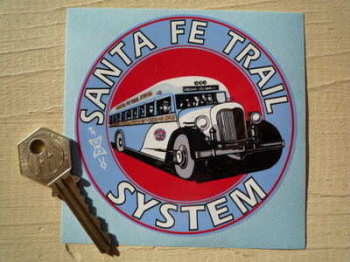 "New Mexico Santa Fe Trail System Sticker. 4""."