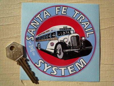 "New Mexico Santa Fe Trail System Sticker. 4""."