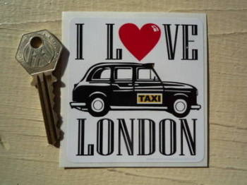 "I Love London Taxi Sticker. 3""."