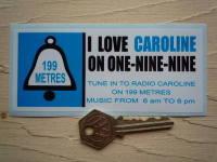 Radio Caroline On One-Nine-Nine 1960's Pirate Radio Sticker. 5
