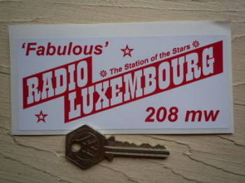 "Radio Luxembourg 'Fabulous' 1960's Pirate Radio Sticker. 5""."