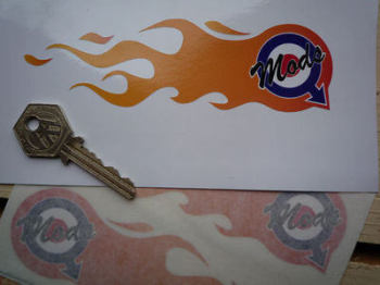 "Mods Mars Symbol Flames Stickers. 5.75"" Pair."