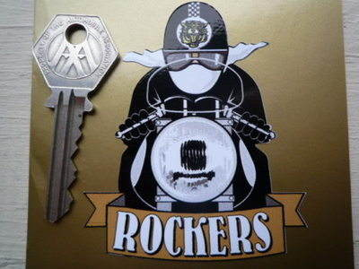 "Rockers Cafe Racer Sticker. 3""."