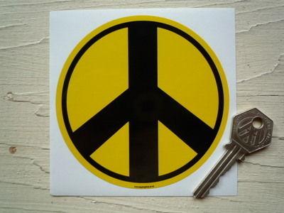 "Ban The Bomb Peace Sticker. 4""."