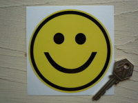 Smiley Face Classic Style Sticker. 4