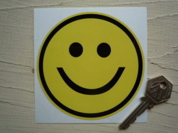 "Smiley Face Classic Style Sticker. 4""."