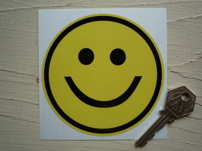 """Smiley Face Classic Style Sticker. 4""""."""