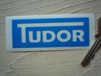 Tudor Windscreen Washer Blue Sticker 85mm x 33mm