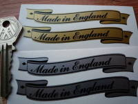 Made in England  Scroll Stickers. 3