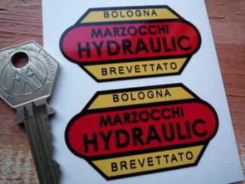 """Marzocchi Hydraulic Bologna Brevattato Stickers. 2.5"""" Pair."""