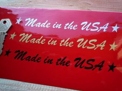"Made in the USA Sticker. Cut Vinyl.  6""."
