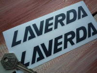 Laverda Script 18mm Cut Text Stickers. 6