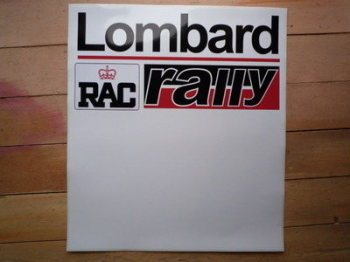 "Lombard RAC Rally Red & Black Door Panel Stickers. 20"" Pair."