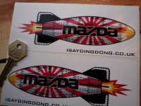 Mazda Shaped Torpedo Stickers. 6