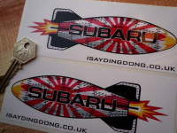 Subaru Shaped Torpedo Stickers. 6