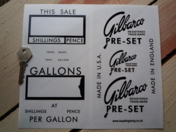 Gilbarco Petrol/Gas Pump Beauty Kit Stickers Set.