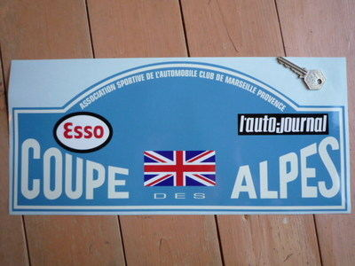 Coupe Des Alpes. Esso. L'auto-journal. Rally Plate Sticker. 16