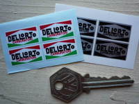 "Dellorto Carburatori Stickers. Set of 4. 1""."