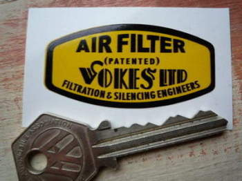 "Vokes Ltd Air Filter Sticker. 2""."