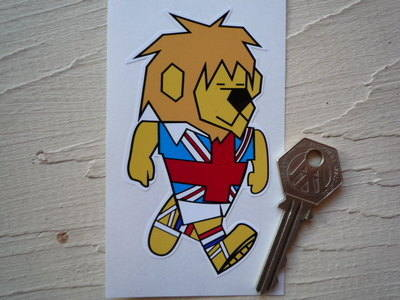 "World Cup Willie 1966 Football Sticker. 4""."
