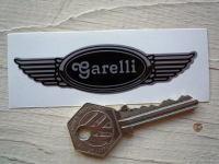 "Garelli Winged Helmet Sticker. 3.5""."
