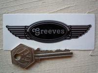 Greeves Winged Helmet Sticker. 3.5