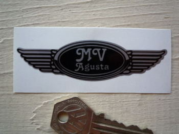 "MV Agusta Winged Helmet Sticker. 3.5""."