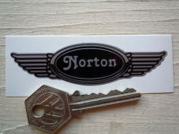 "Norton Winged Helmet Sticker. 3.5""."