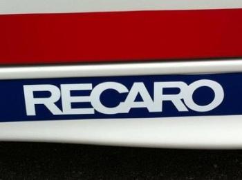 "Recaro Seats Cut Vinyl Sticker. 10""."