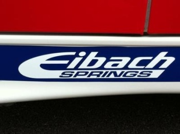 "Eibach Springs Cut Out Sticker. 10""."