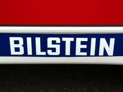 """Bilstein Cut Text Stickers. 8"""", 10"""" or 12"""" Pair."""