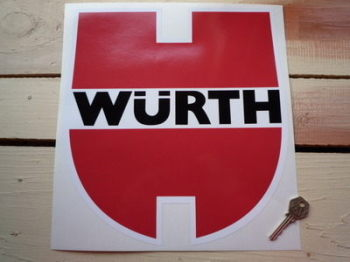"Wurth Shaped Racing Sticker. 8.5"", 10"" or 11""."