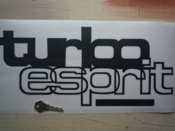 "Lotus Turbo Esprit Cut Vinyl Stickers. 15.5"" Pair."