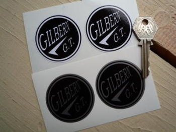 "Gilbern G.T. Circular Stickers, 2"" Pair."
