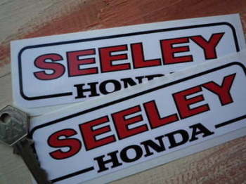 "Seeley Honda Stickers. 6"" Pair."