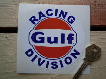 "Gulf Racing Division Sticker. 4""."