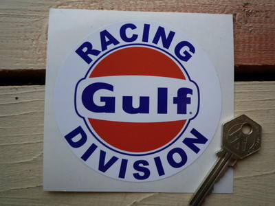 Gulf Racing Division Sticker. 4
